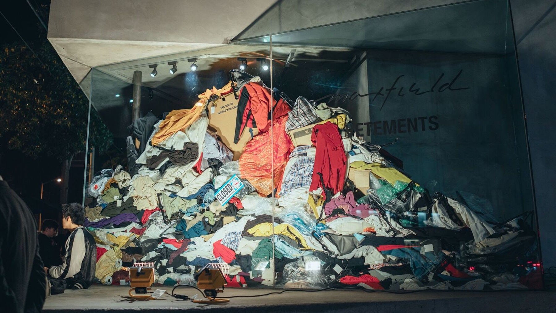 Vetements 'Dry Cleaning' event at Maxfield   Source: Courtesy