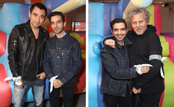 Imran Amed with Diesel's Nicola Formichetti and Renzo Rosso | Source: Courtesy