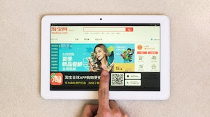 Taobao on tablet | Source: Shutterstock