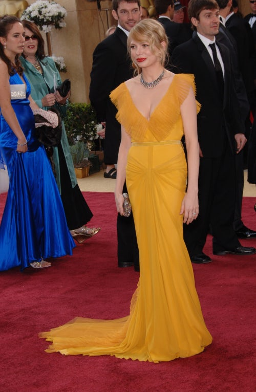 Michelle Williams in Vera Wang at the 2006 Academy Awards | Source: Shutterstock