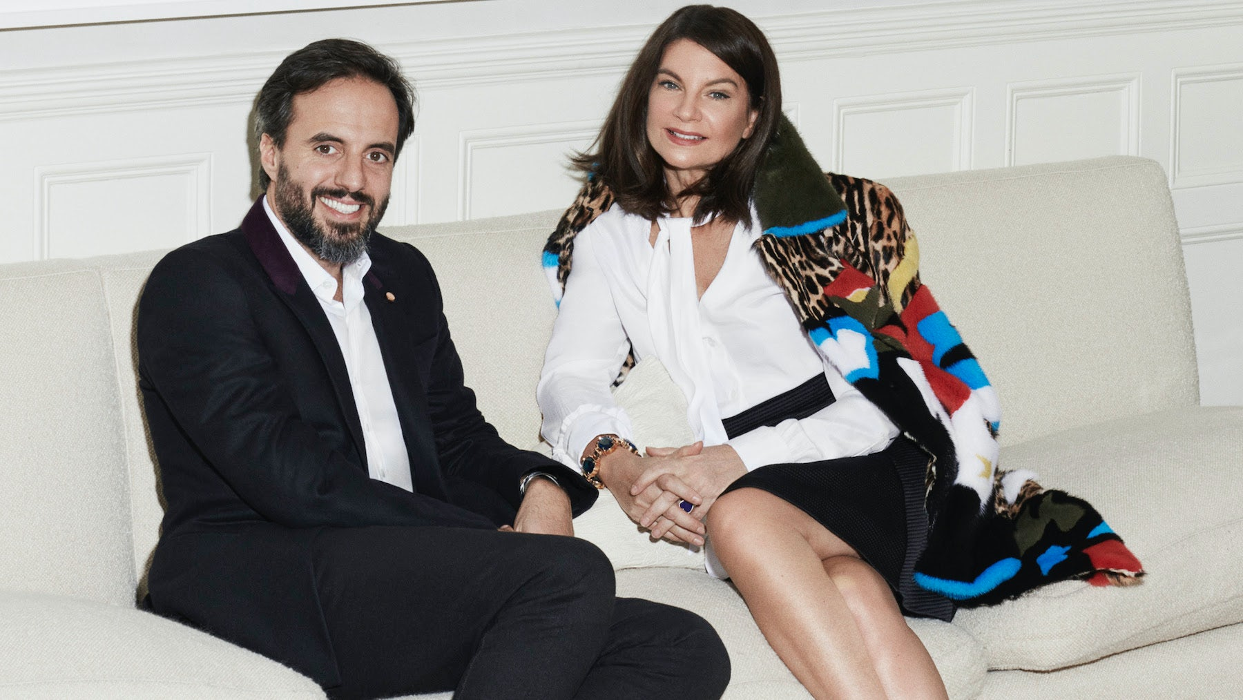 Natalie Massenet with José Neves, founder and CEO of Farfetch | Source: Farfetch