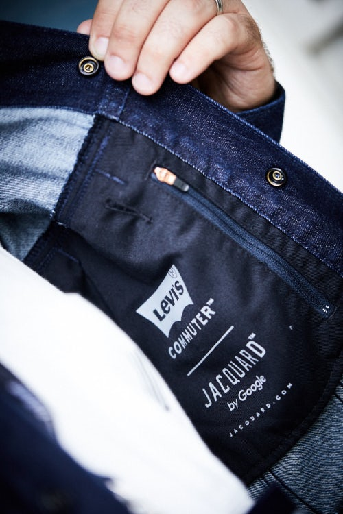A detail of the Levi's Commuter Trucker jacket | Source: Courtesy