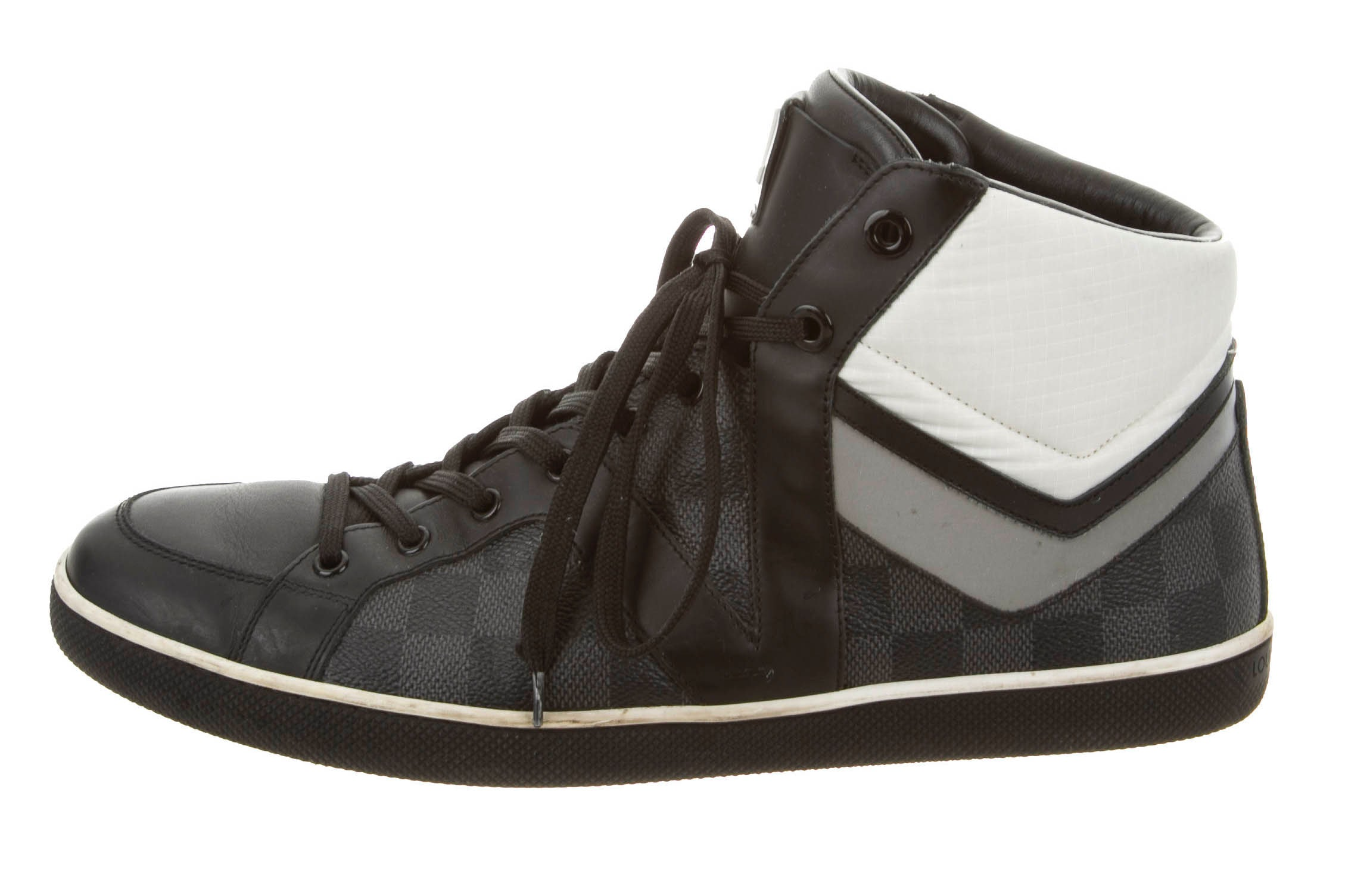 The Louis Vuitton Damier high-top sneaker | Source: The RealReal