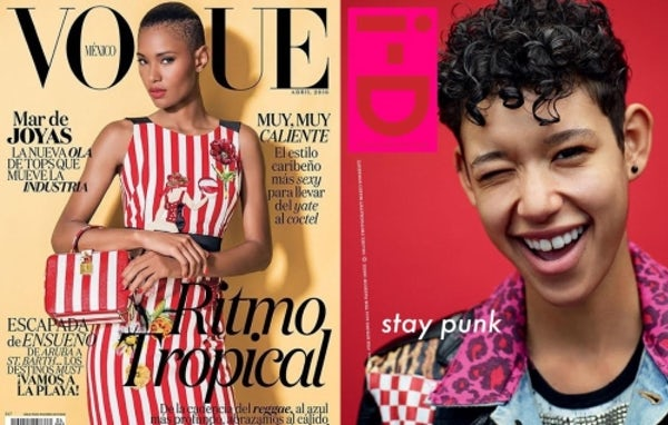 Ysaunny Brito on Vogue Mexico and Dilone for iD | Source: Vogue Mexico/iD