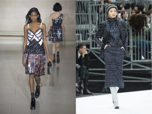 Elibeidy Danis walks in the Louis Vuitton Autumn/Winter 2017 show, Lineisy Montero walks in the Chanel Autumn/Winter 2017 show | Source: InDigital.tv