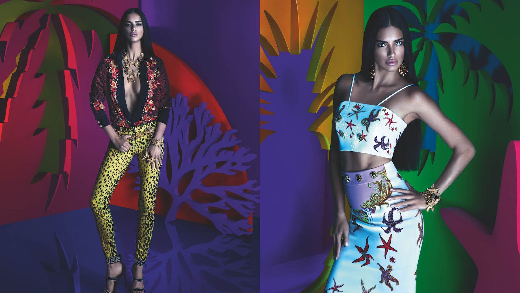 Versace for Riachuelo collaborative designer collection A/W 2015 | Photo: Mert Alas and Marcus Piggott