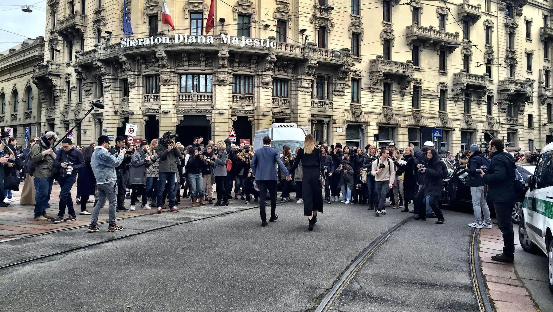Justin O'Shea and Veronika Heilbrunner in Milan | Photo: Imran Amed