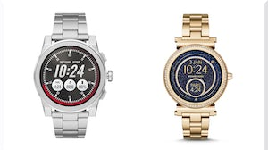Michael Kors' Grayson (left) and Sofie (right) smartwatches | Source: Courtesy