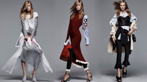 Style.com campaign featuring model Lexi Boling