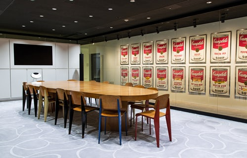 A meeting room at Start Today's Makuhari offices. | Source: Start Today