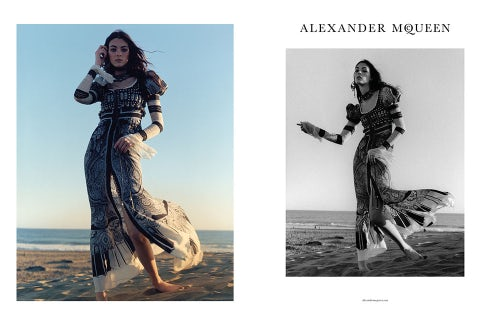 Alexander McQueen Spring/Summer 2017 campaign | Source: Courtesy