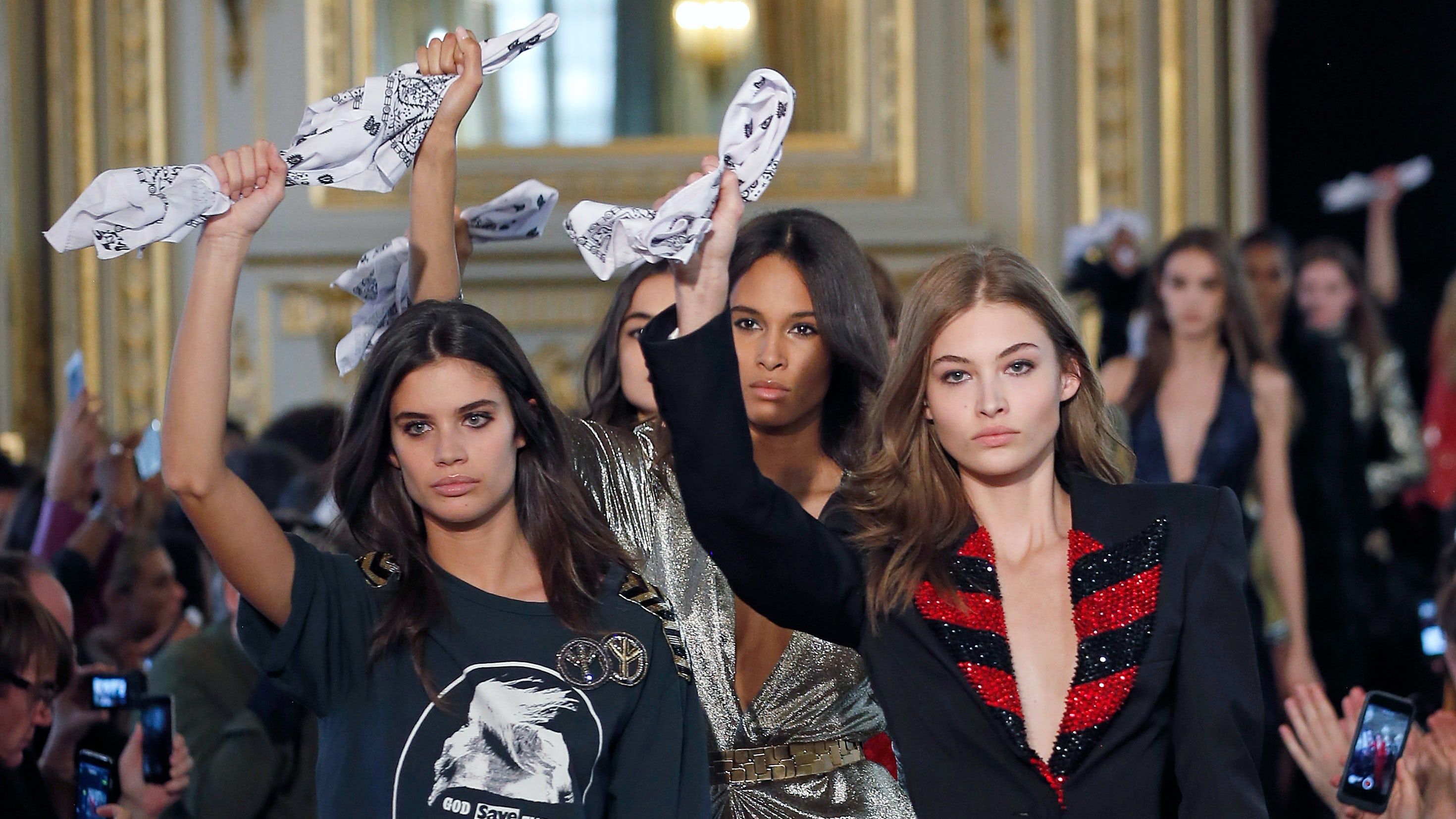 Models on the Redemption runway   Source: Getty