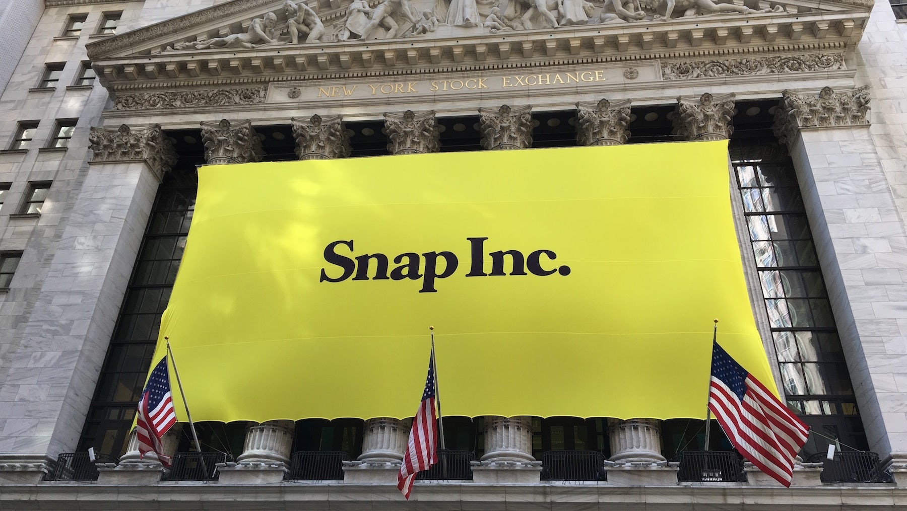 Snapchat makes its debut on the New York Stock Exchange | Source: Shutterstock
