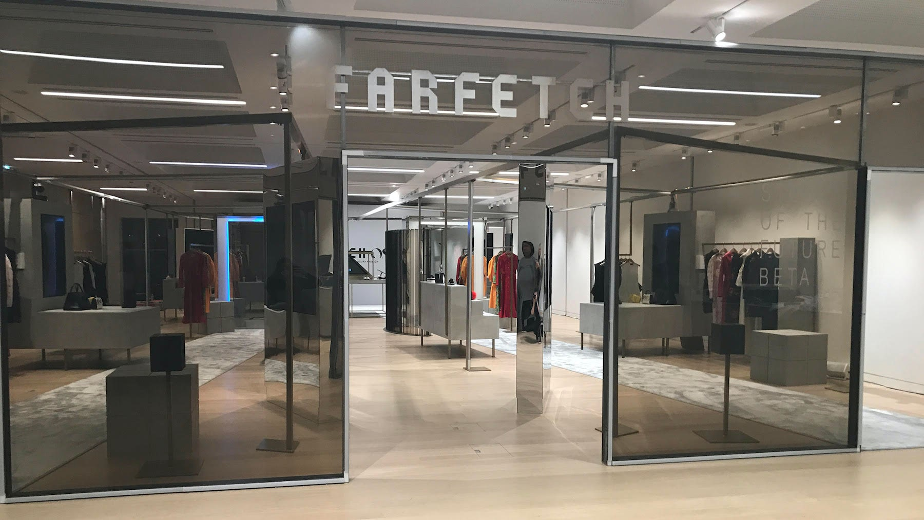 Inside Farfetch's Store of the Future demonstration   Source: Courtesy Farfetch