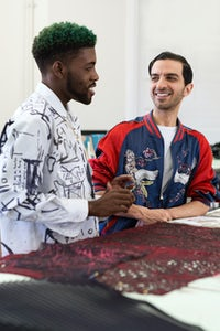 BoF's Imran Amed visiting with a student at the  Savannah College of Art and Design. | Source: Courtesy of SCAD