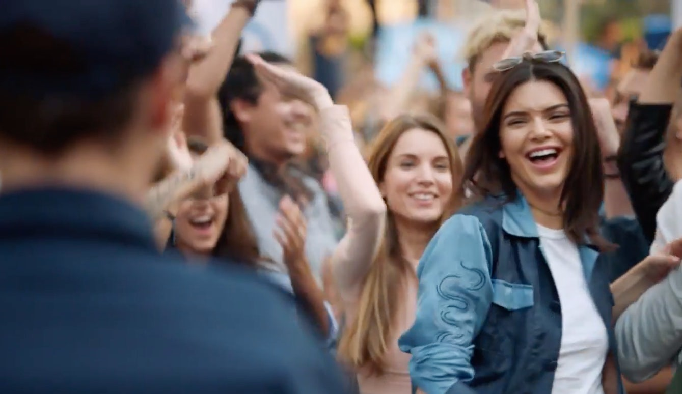 Kendall Jenner in Pepsi's latest ad | Source: Courtesy