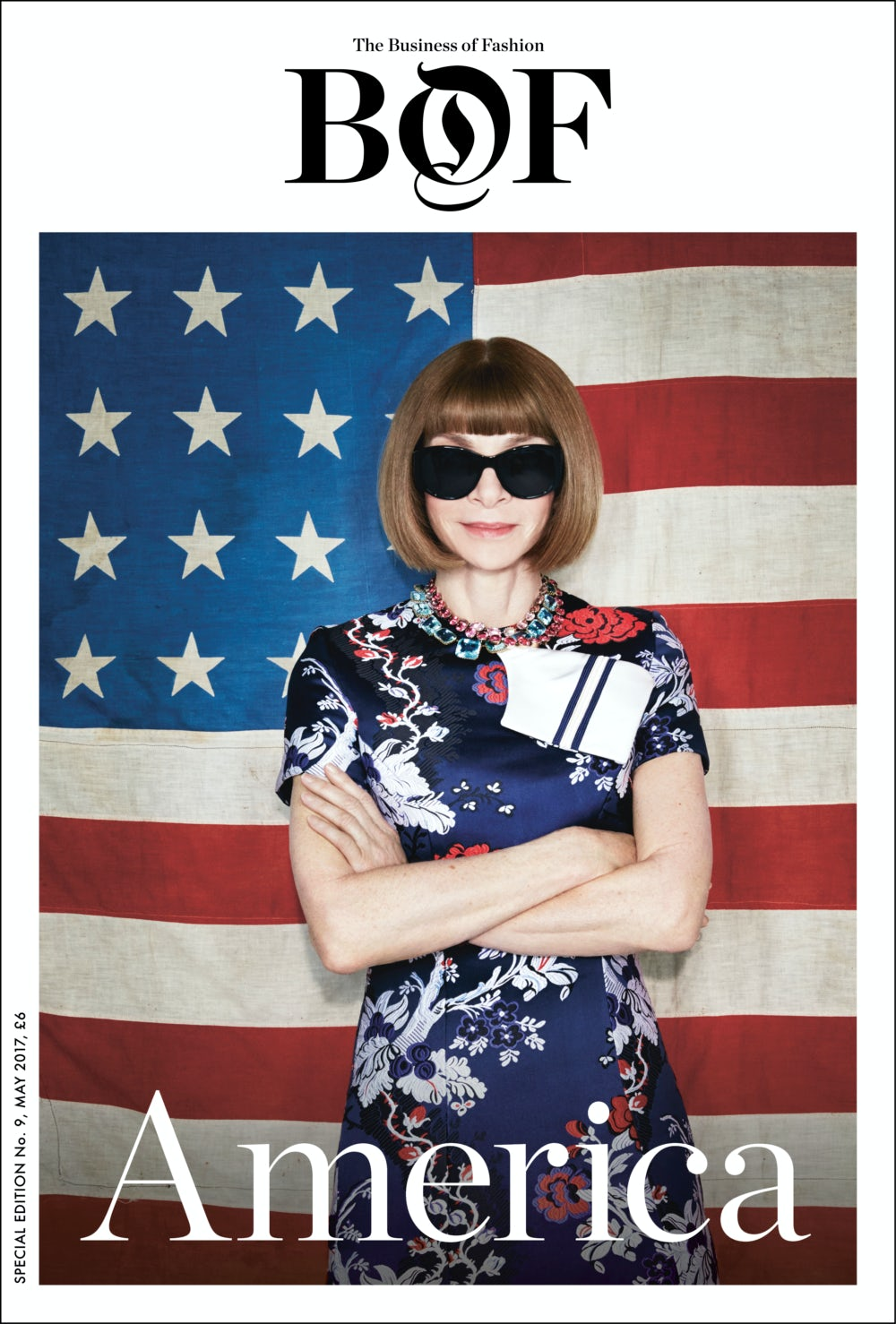 Article cover of Anna Wintour Is the Cover Star of BoF's Latest Print Issue: 'America'