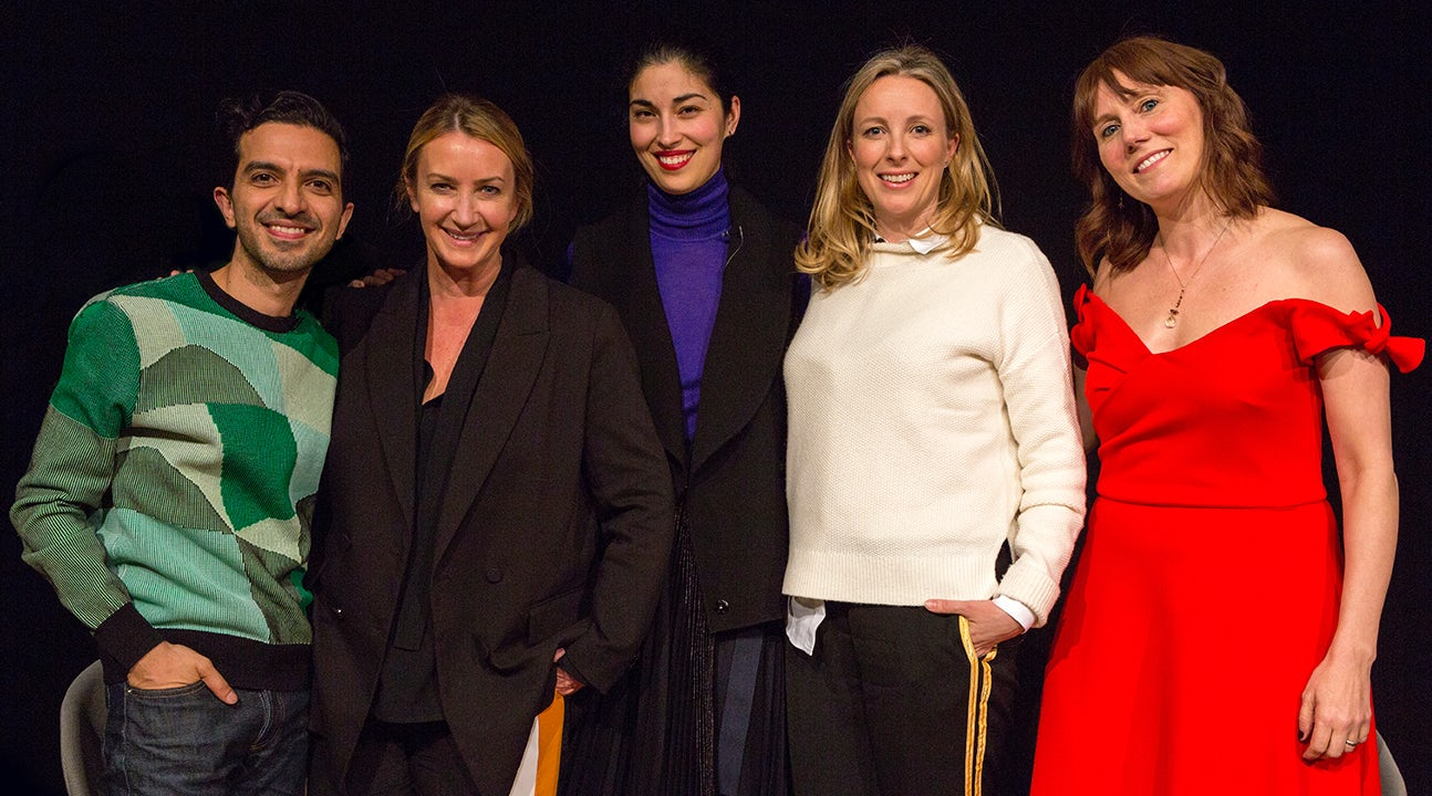 From L-R: Imran Amed, Anya Hindmarch, Caroline Issa, Stephanie Phair, Jenny Cossons | Source: Courtesy