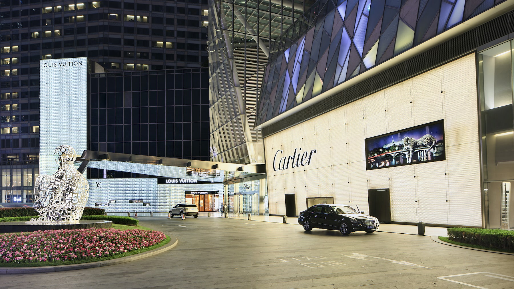 The Louis Vuitton and Cartier stores in Shanghai, China | Source: Shutterstock