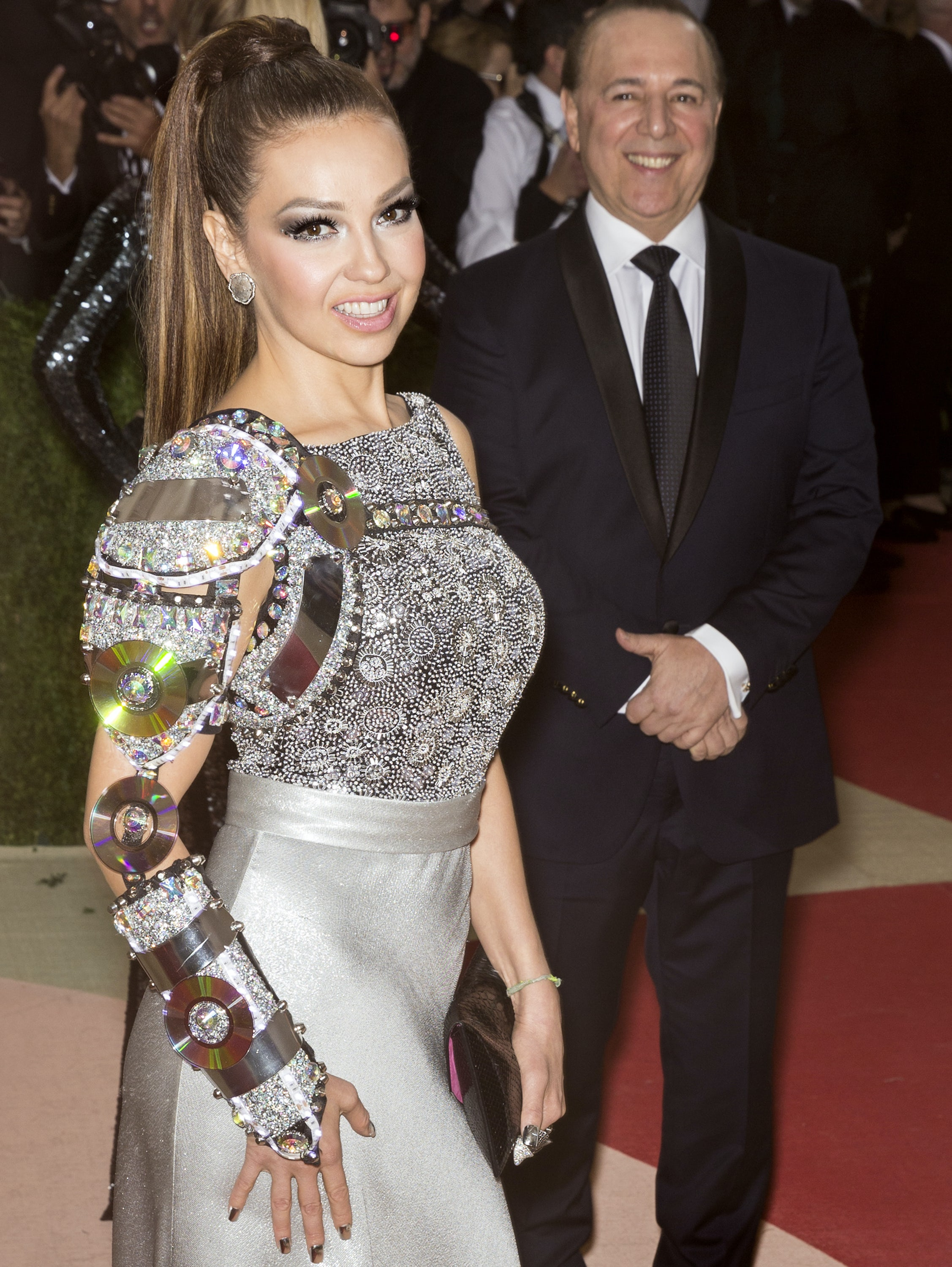 Singer Thalia at the Met Gala in 2016 | Source: Shutterstock