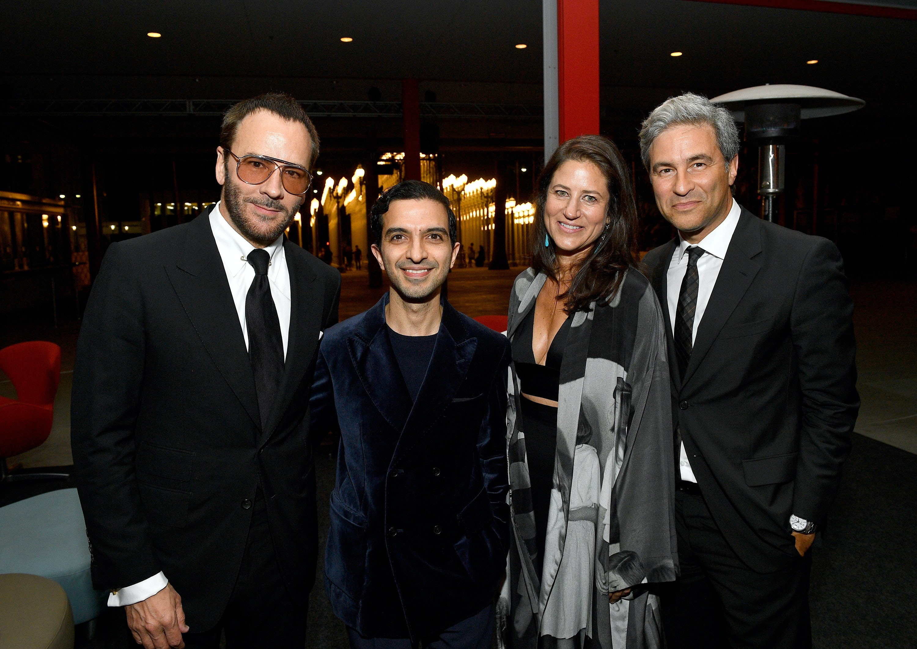 Tom Ford, Imran Amed, Katherine Ross and Michael Govan | Source: Matt Winkelmeyer/Getty Images