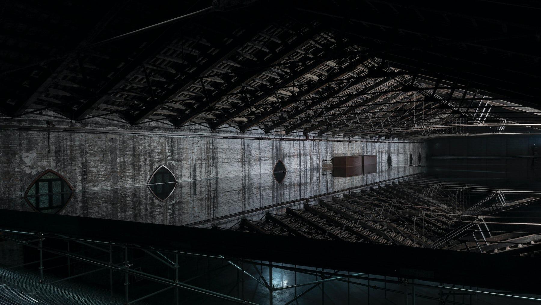 Giorgio Andreotta Calo's reflecting pond at the Italian pavilion | Source: Courtesy