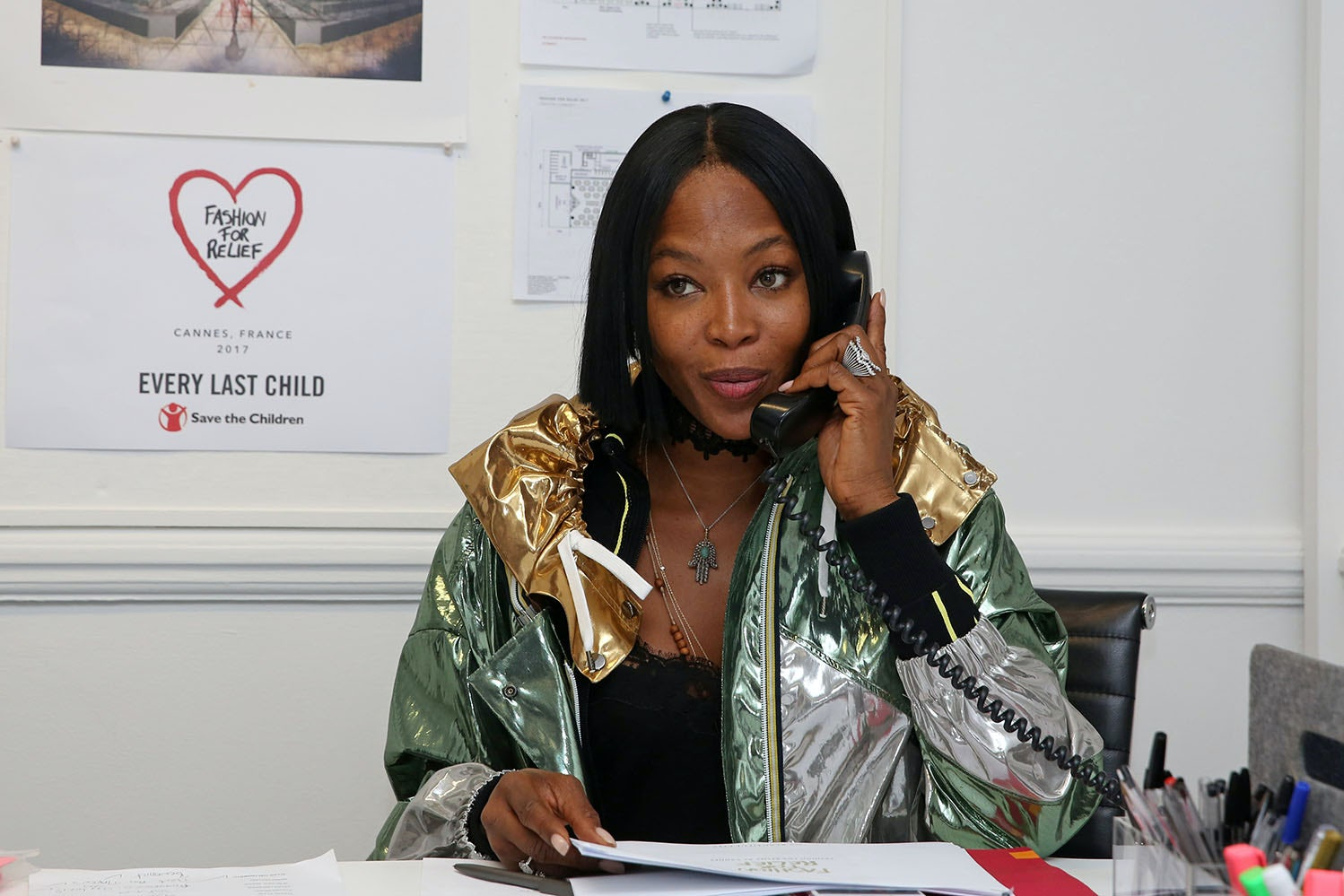 Naomi Campbell at her Fashion for Relief London headquarters | Source: Courtesy