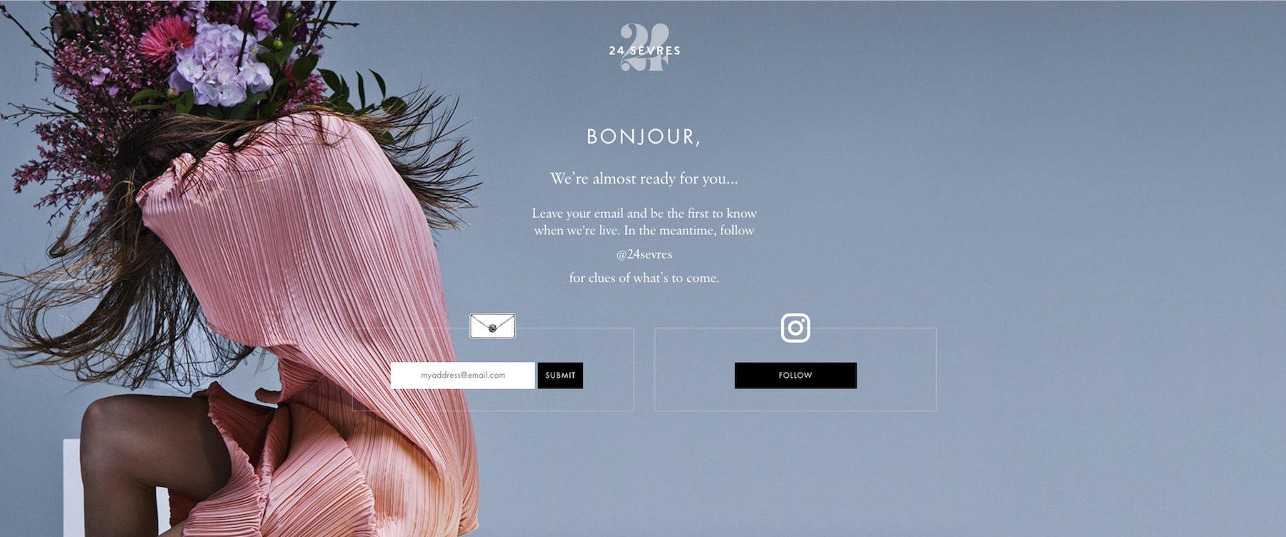LVMH's new e-commerce site 24 Sevres