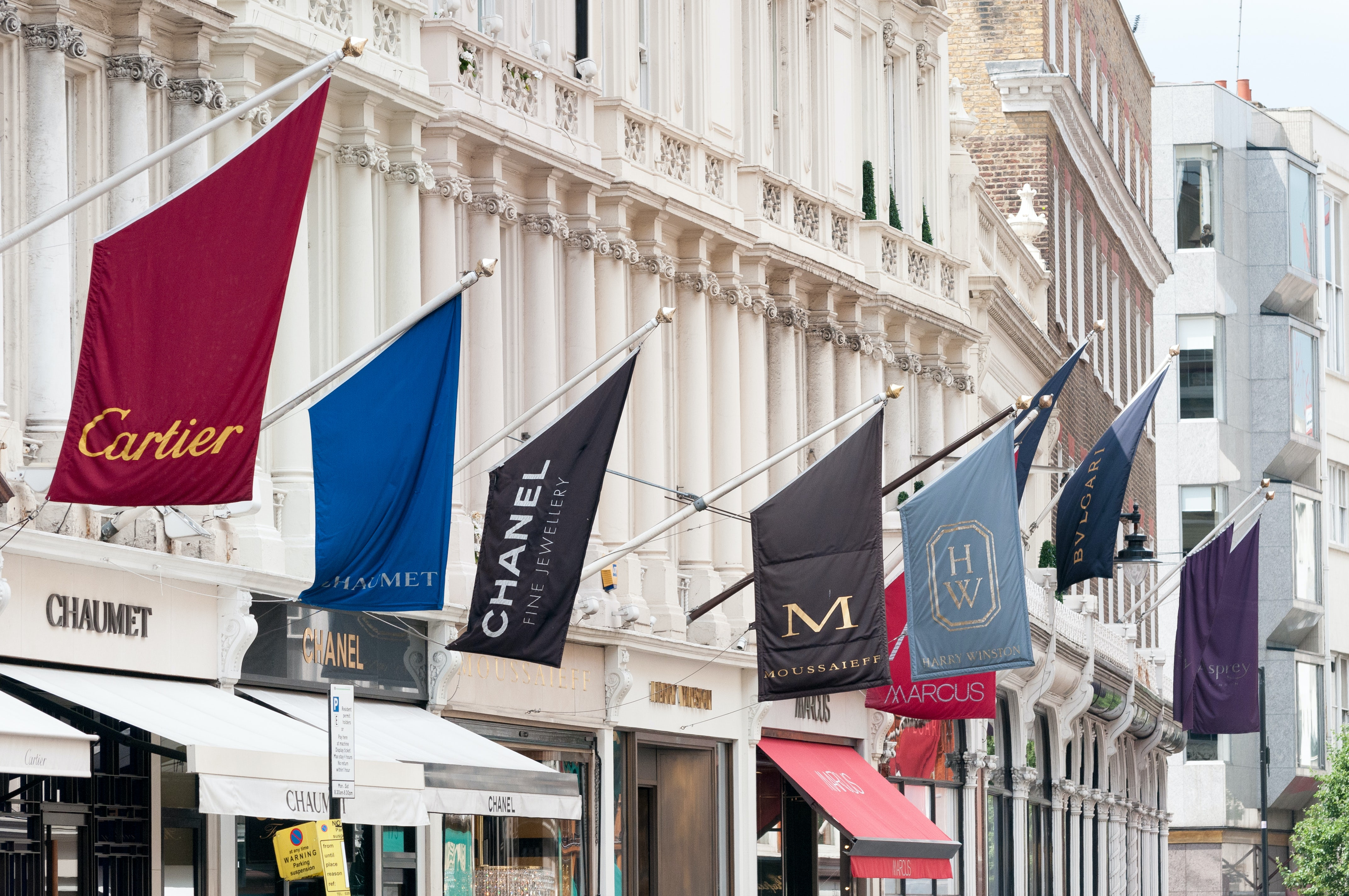 Luxury stores on Bond Street, London | Source: Shutterstock