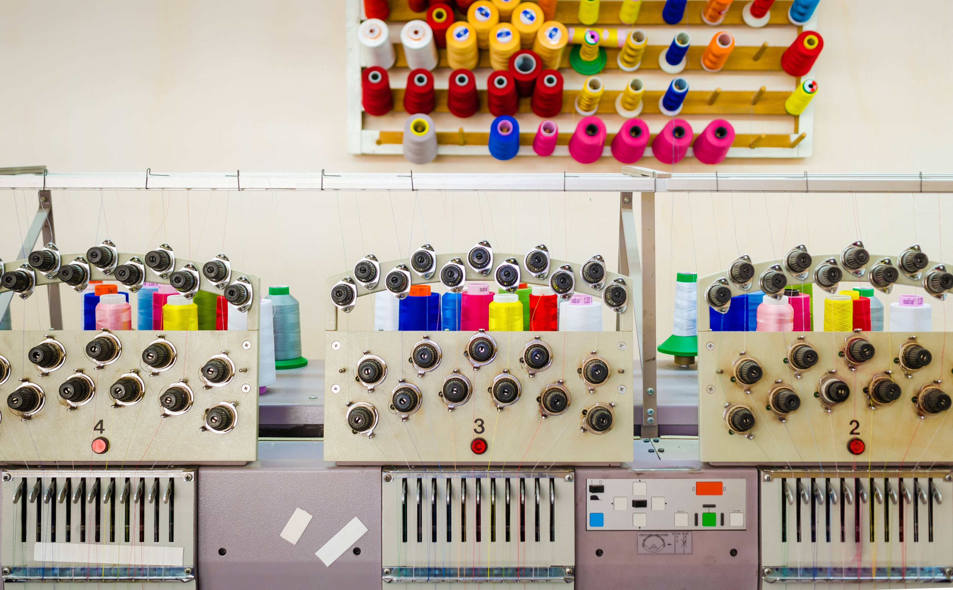 Embroidery equipment at a sewing factory | Source: Shutterstock