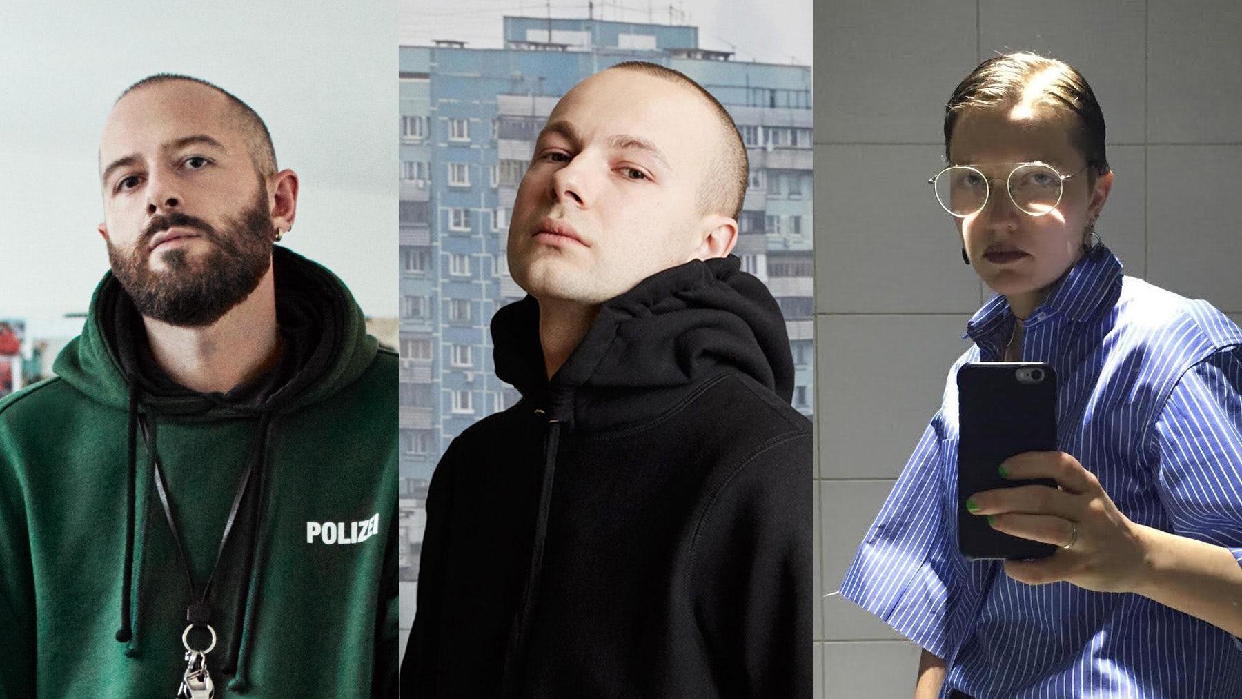 From left: Demna Gvasalia by Willy Vanderperre for BoF, Gosha Rubchinskiy and Lotta Volkova (both courtesy)