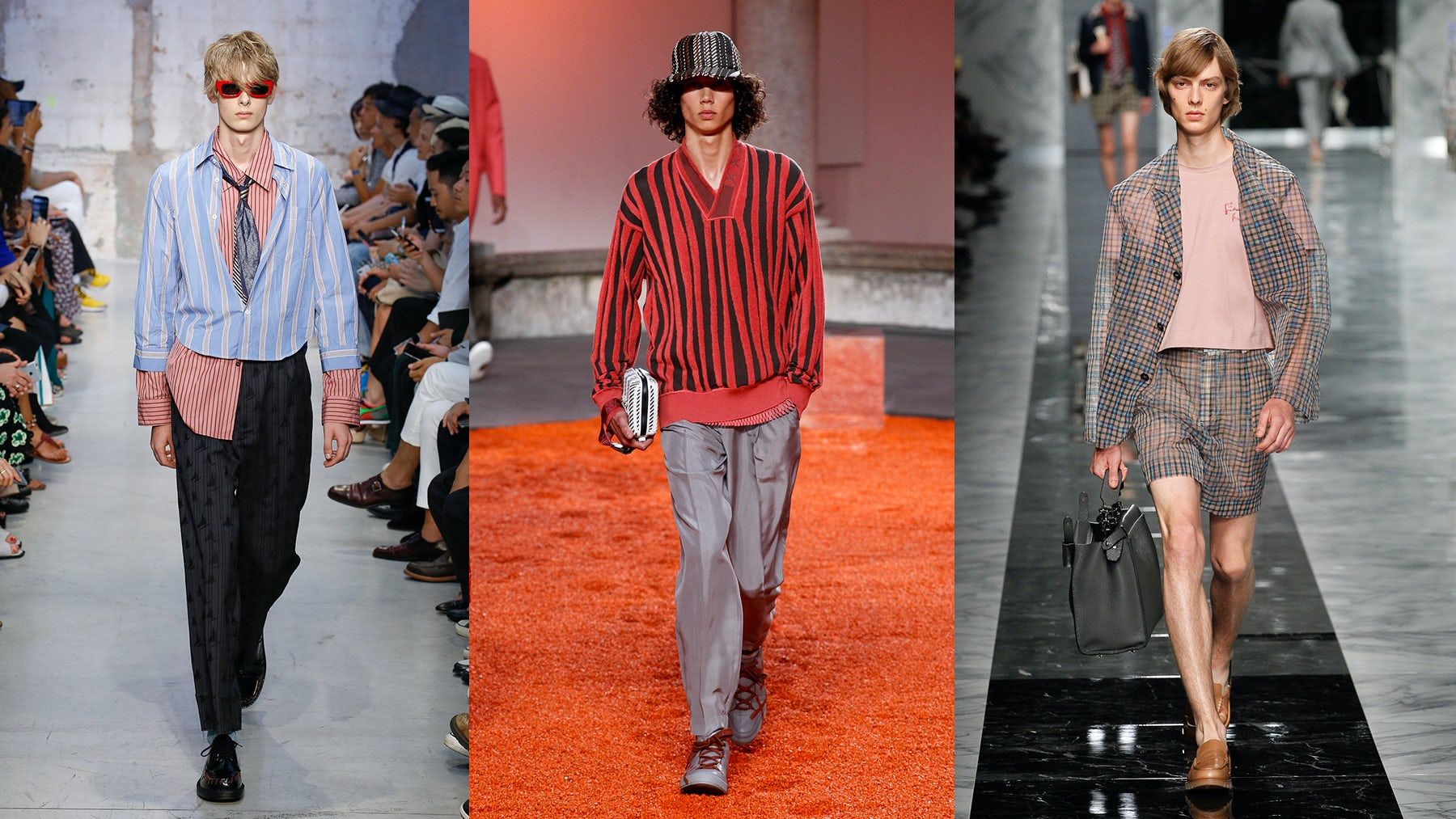 Looks from Marni, Ermenegildo Zegna and Fendi Spring 2018 menswear collections | Source: InDigital
