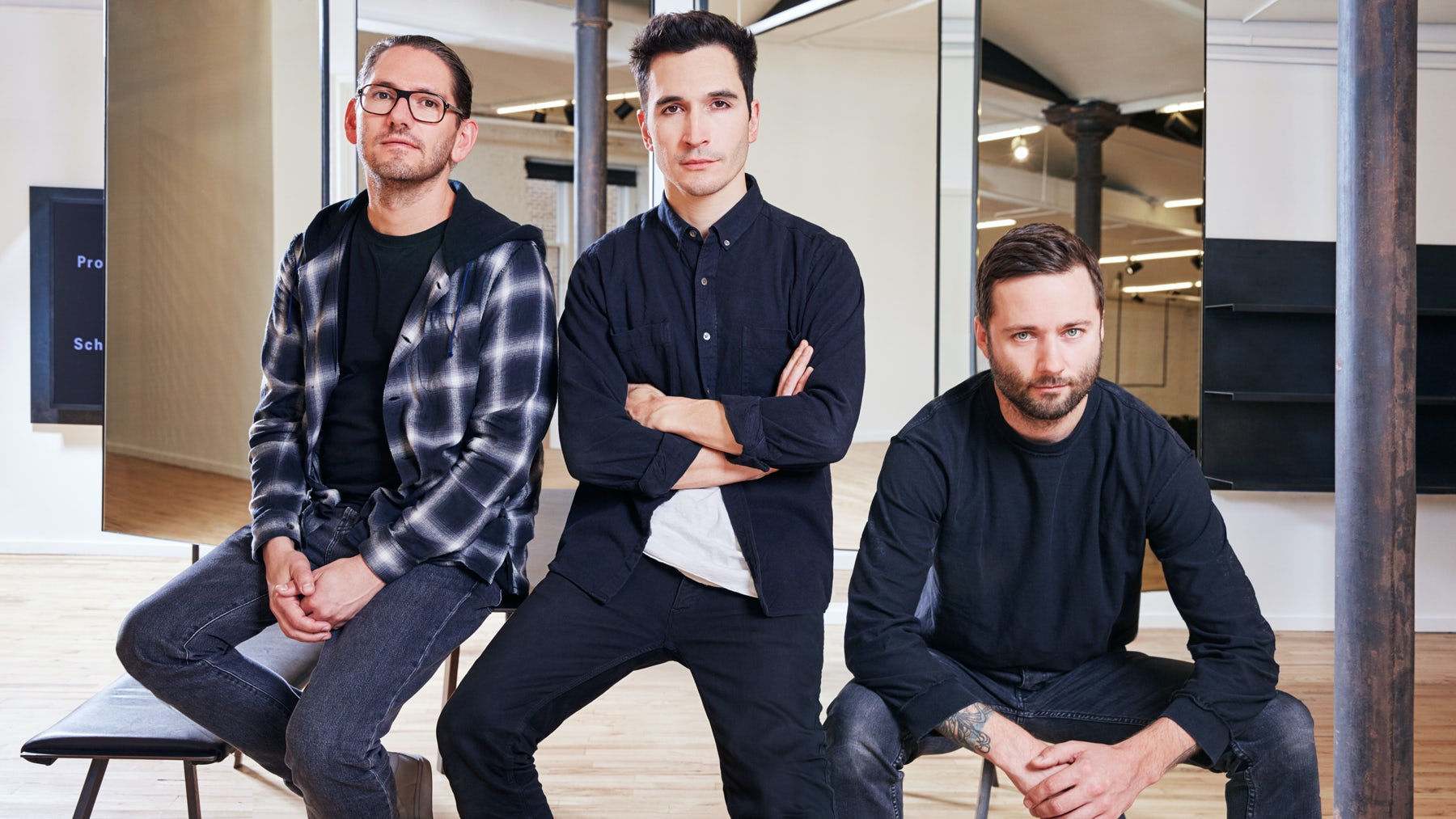 Proenza Schouler CEO Judd Crane, designers Lazaro Hernandez and Jack McCollough | Photo: Kevin Trageser