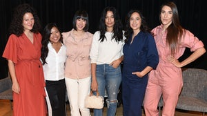 Lauren Sherman of BoF, Jen Rubio of Away, Eva Chen of Instagram, Iris Alonzo and Carolina Crespo of Everybody.World and Aurora James of Brother Vellies | Source: Nicholas Hunt/Getty Images for The Business of Fashion