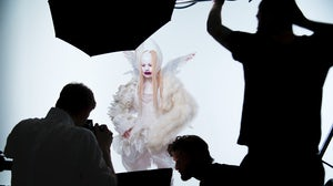 Nick Knight shooting for Chaos 69 | Source: Courtesy