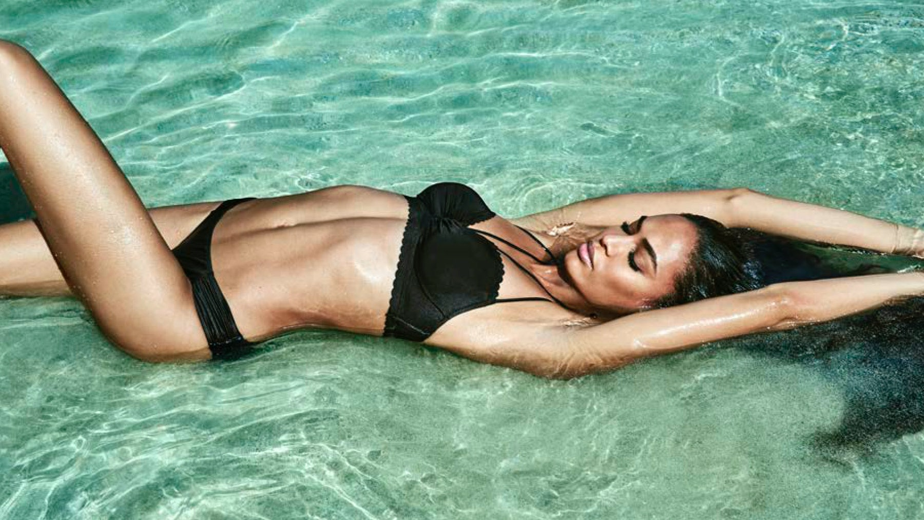 Joan Smalls for Smart & Sexy Spring 2017 | Source: Chris Colls