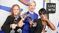 Gloria Steinem, Cecile Richards and Janelle Monáe at the 2017 CFDA Awards | Source: Courtesy