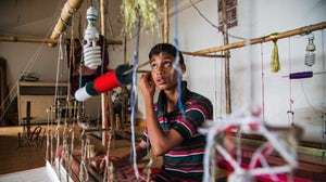 A worker in a Bangladesh textile factory | Source: Shutterstock