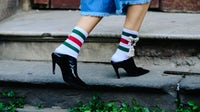 A pair of Gucci socks ($455) worn by Anouki Areshidze | Photo: Adam Katz Sinding