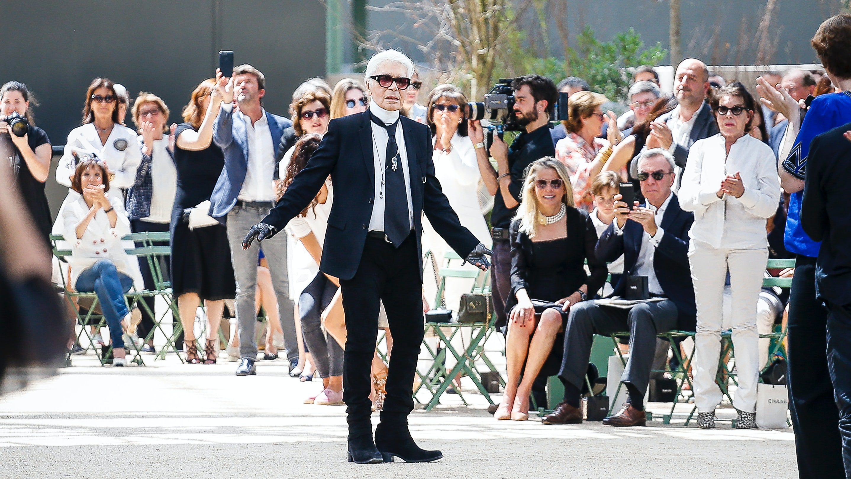 Karl Lagerfeld at the Chanel Autumn 2017 haute couture show in Paris | Source: InDigital.tv