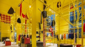 Calvin Klein's Madison Avenue flagship featuring Sterling Ruby's installation | Source: Courtesy