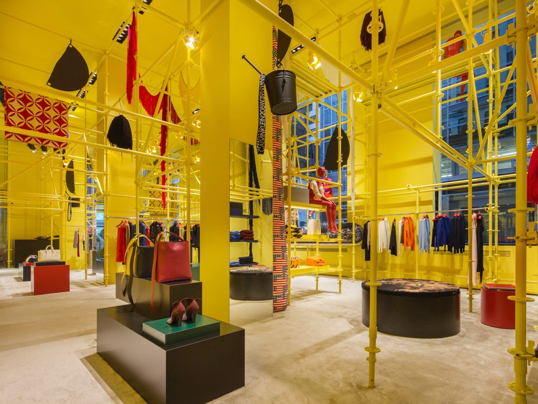 Calvin Klein's Madison Avenue flagship featuring Sterling Ruby's installation   Source: Courtesy