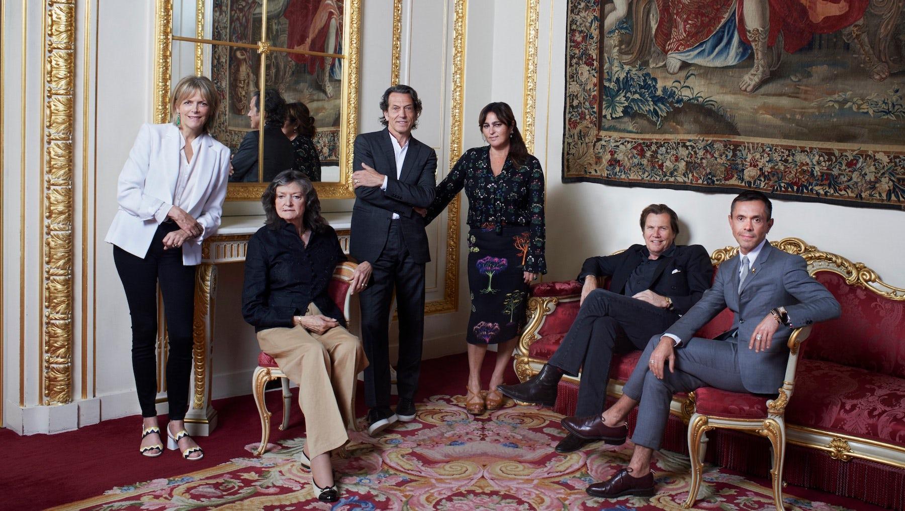 The Leopards, from left: Carol Woolton, Susan Farmer, Stephen Webster, Solange Azagury-Partridge, Theo Fennell, Shaun Leane | Photo: Amelia Troubridge