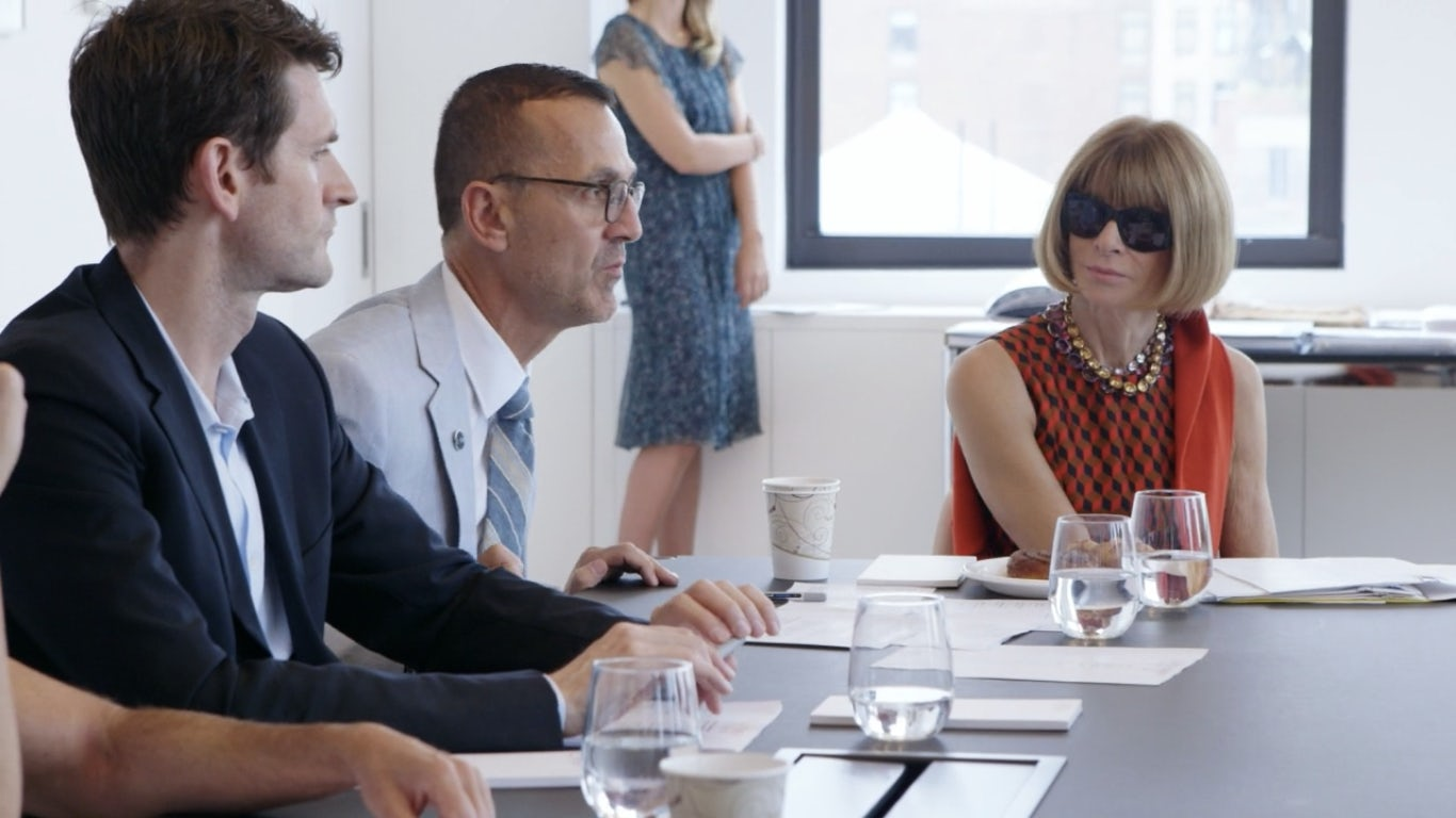 "Anna Wintour in Season 3 of Amazon's ""The Fashion Fund"" 