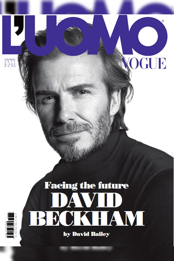 David Beckham on the latest cover of L'Uomo Vogue | Source: Courtesy
