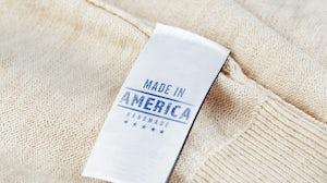 A 'Made in America' garment tag | Source: Shutterstock