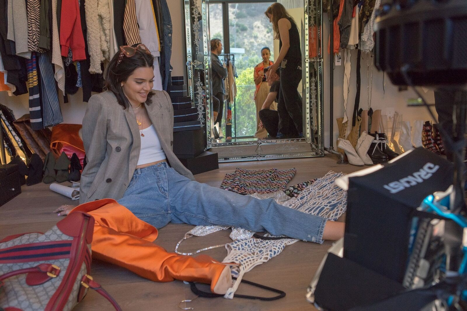 Kendall Jenner in Vogue and Google's 'Supermodel Closets' | Source: Caleb Adams for Vogue