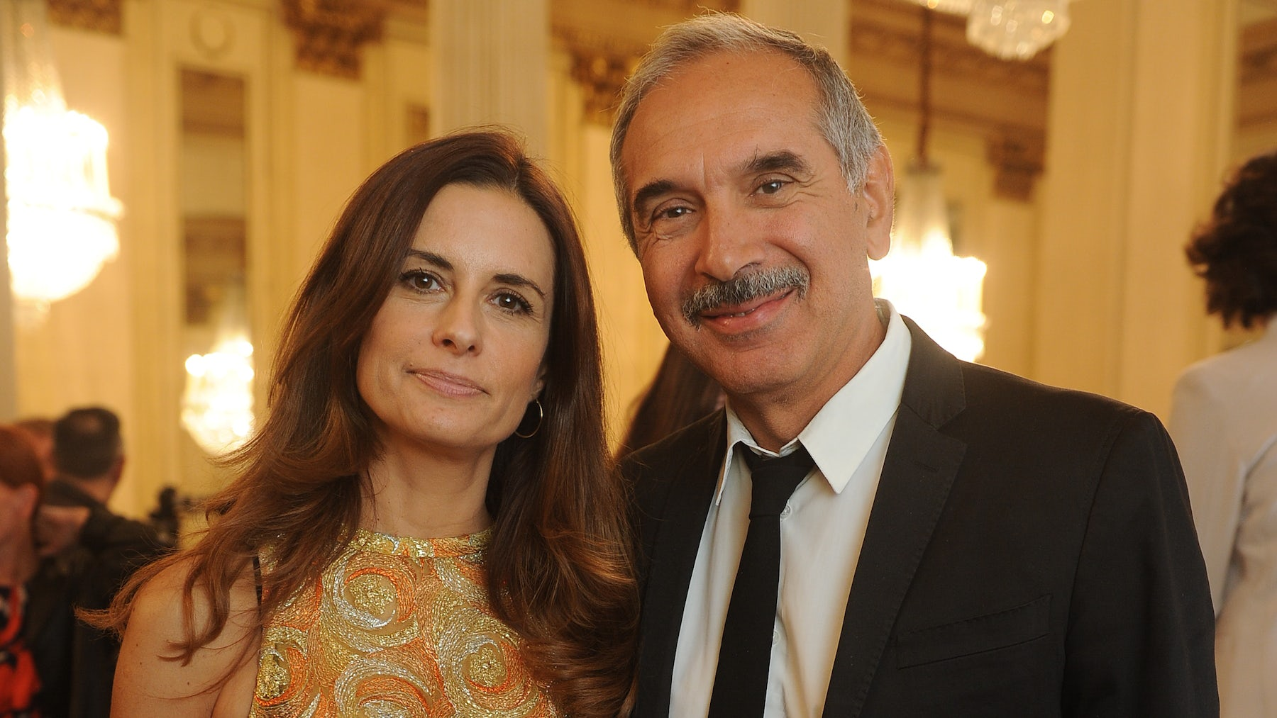 Eco-Age's Livia Firth with CNMI president Carlo Capasa | Source: Courtesy