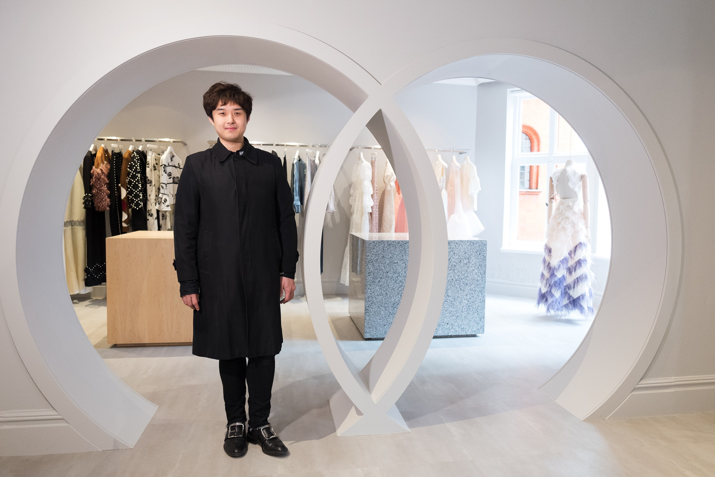 Huishan Zhang in his Mount Street store | Source: Courtesy