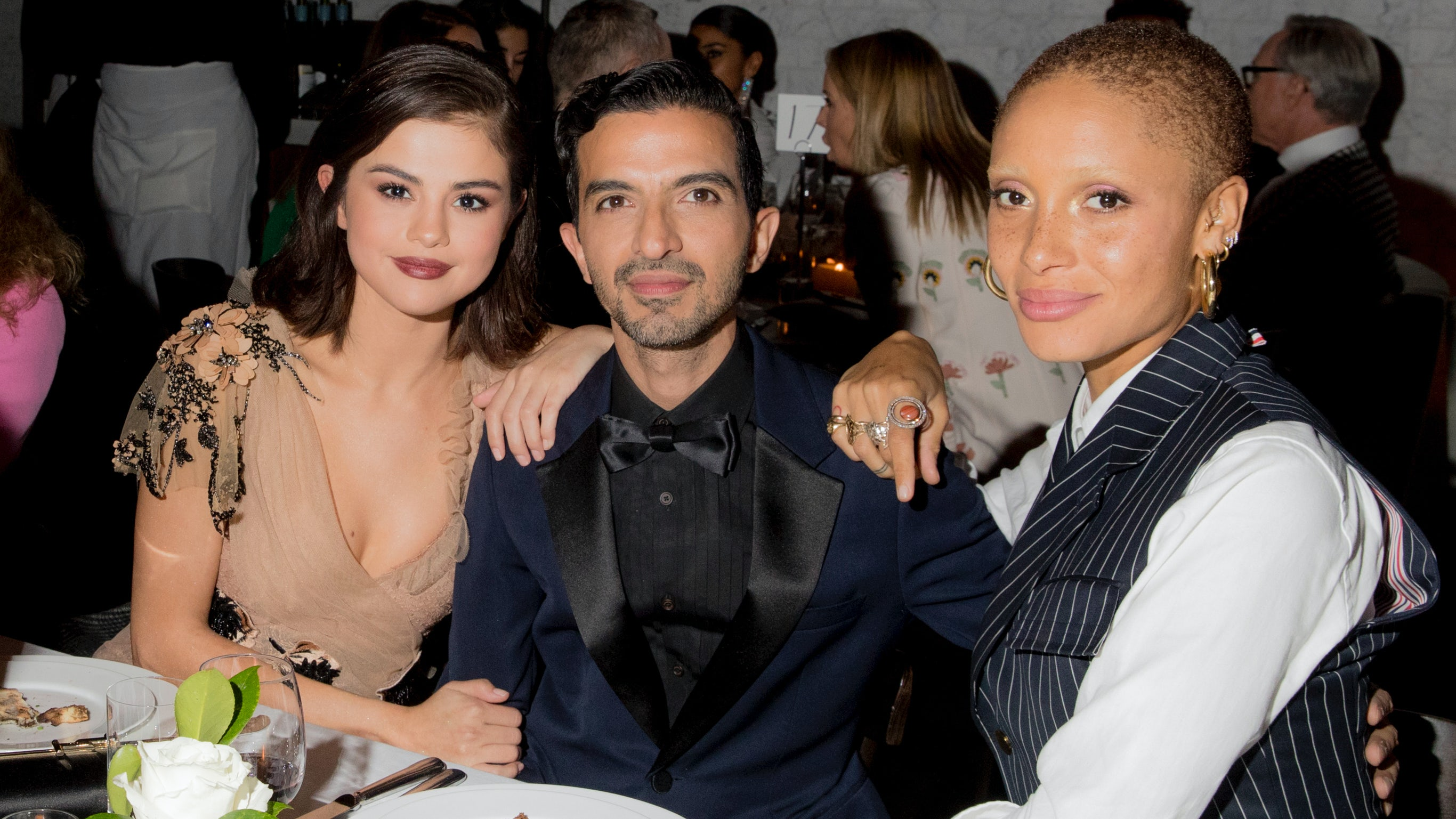 Selena Gomez, Imran Amed and Adwoa Aboah at the #BoF500 Gala | Source: Kevin Tachman
